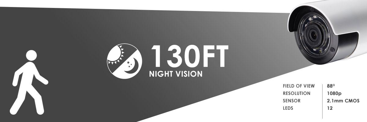 wireless night vision camera 130ft