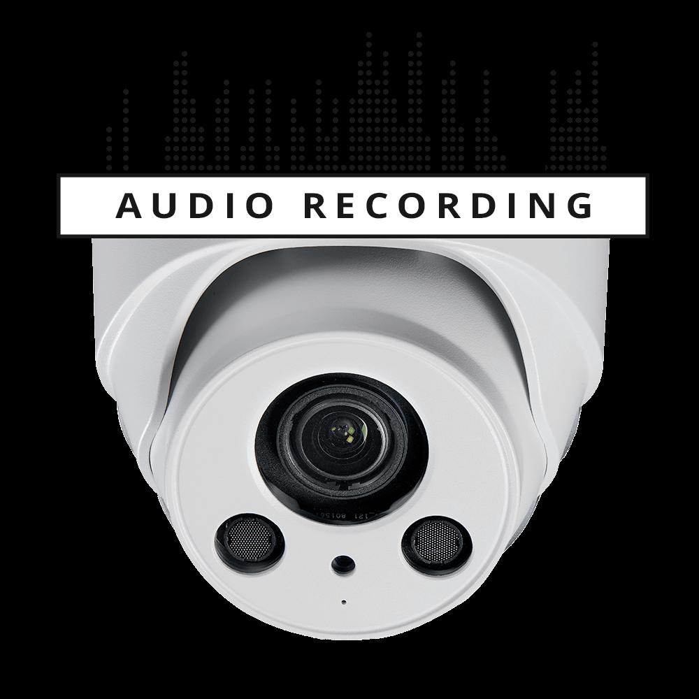 4K audio dome security camera