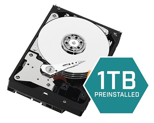 1TB security-grade hard drive