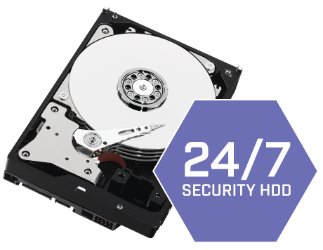 Security-grade hard drive pre-installed