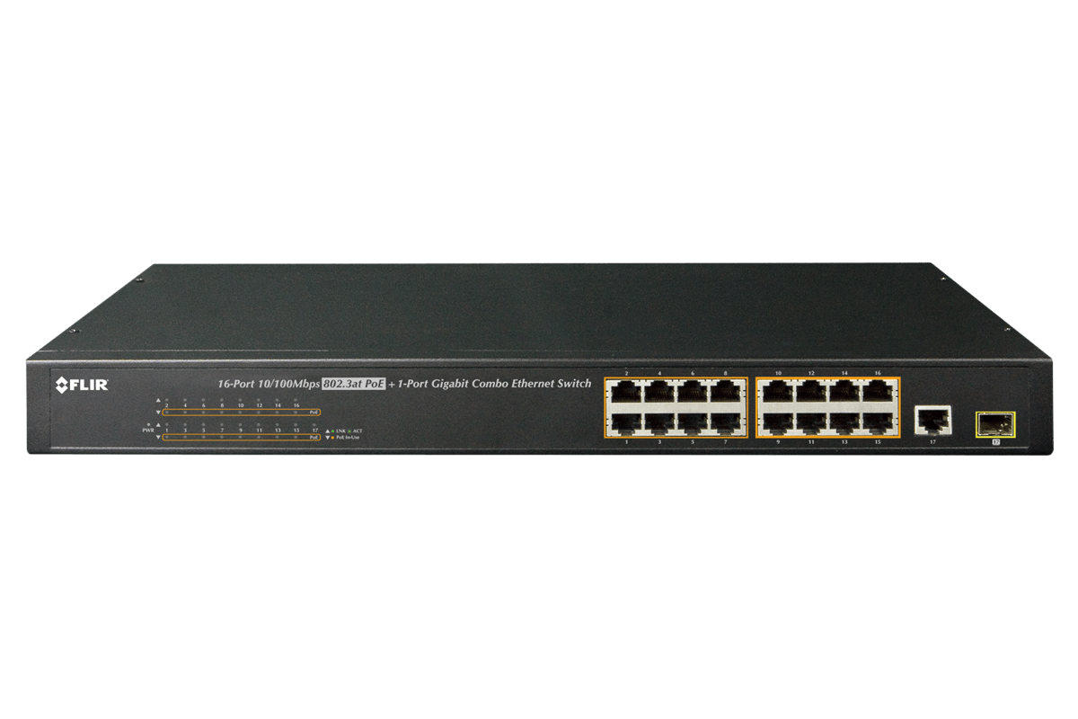 PoE+ power-over-ethernet switch from Lorex by FLIR