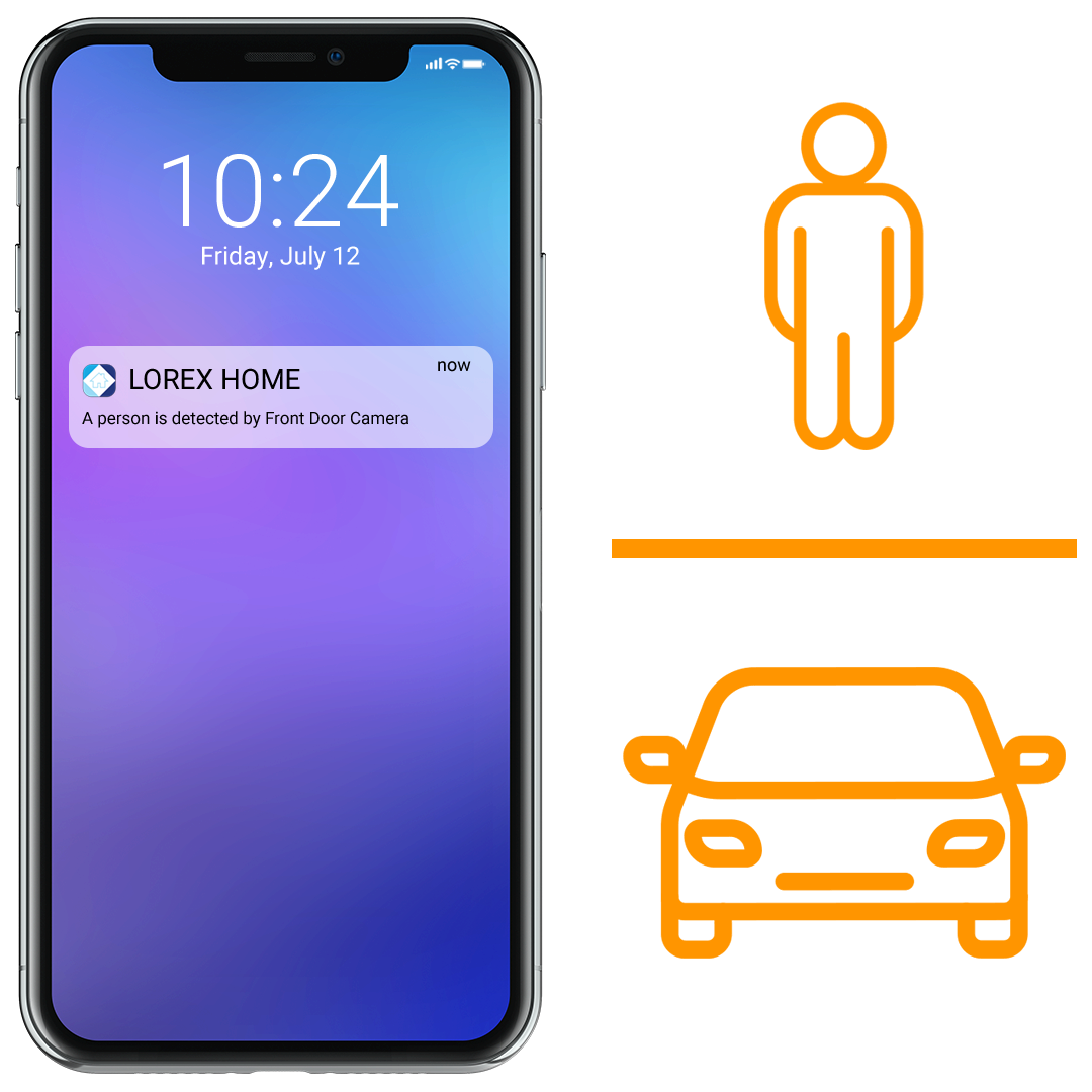 Person and vehicle smart motion detection