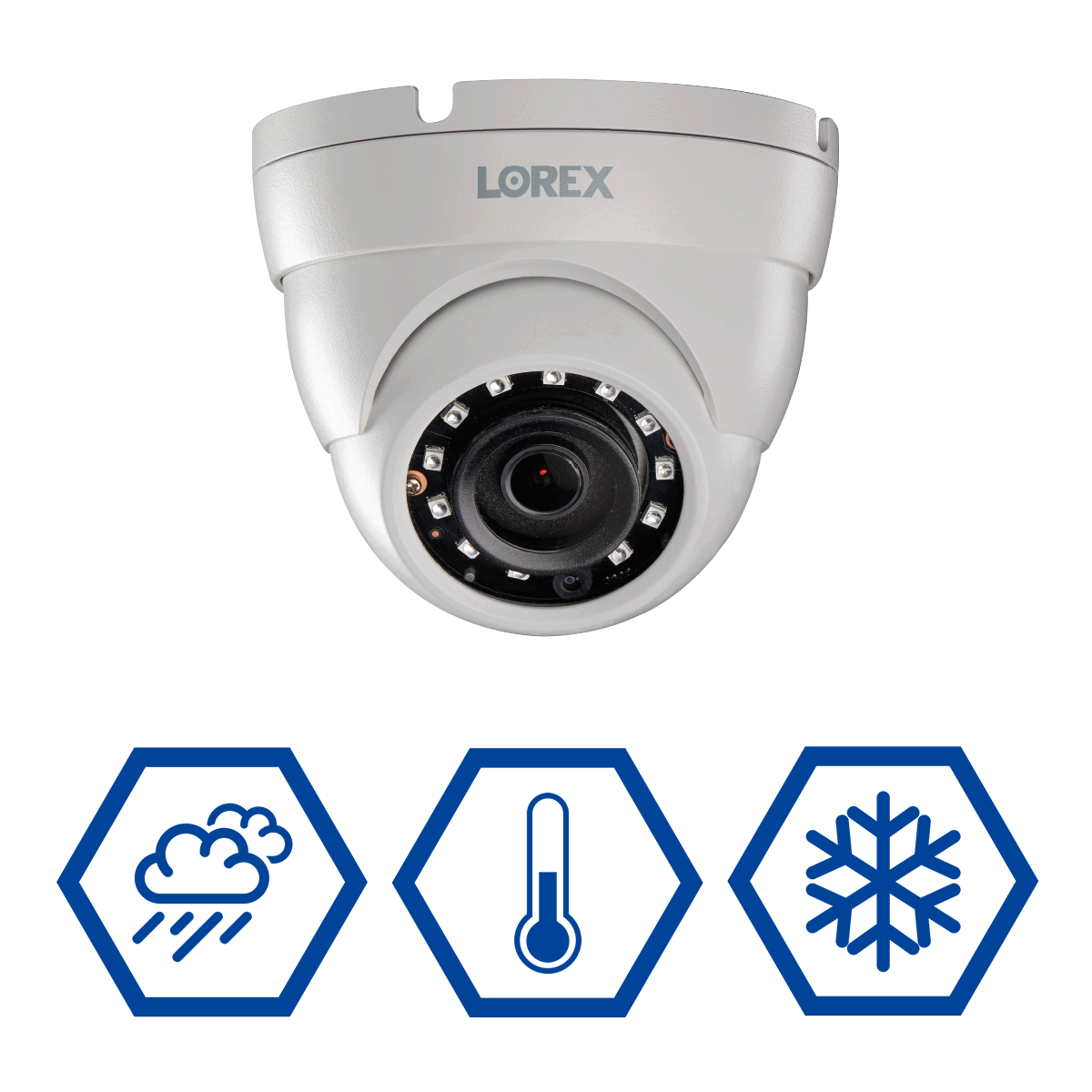 4K weatherproof security camera for year-round protection