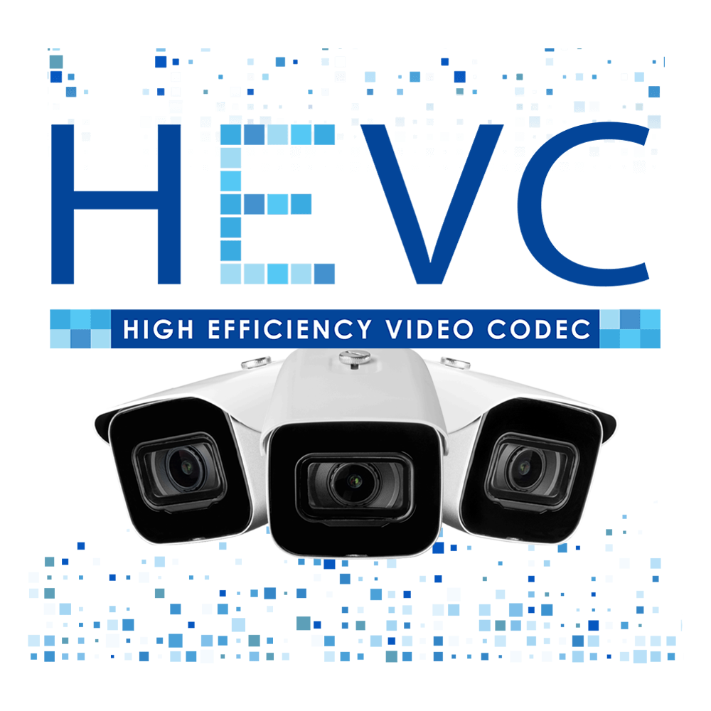 HEVC security camera system