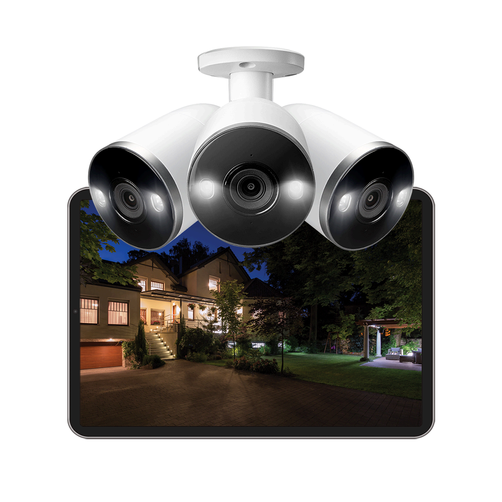 4K IP security camera with two-way talk audio microphone speaker