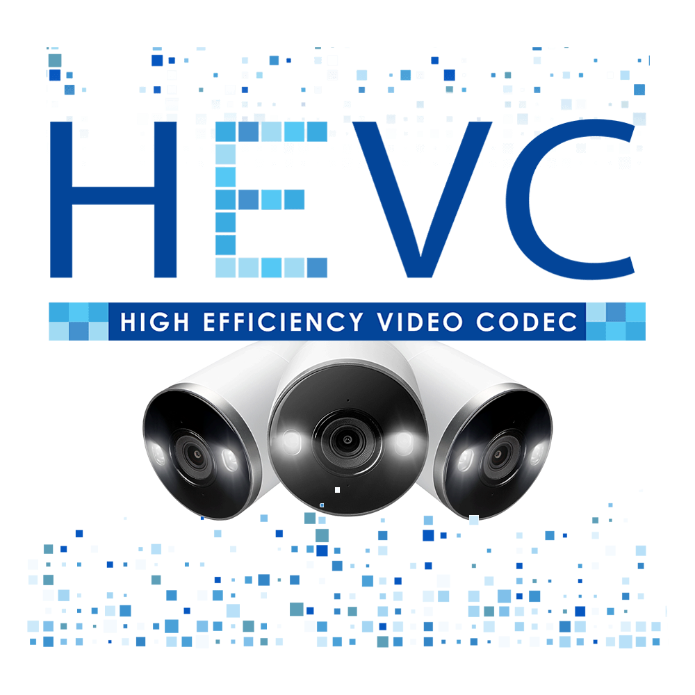 4K IP security camera with HEVC H.265 encoding