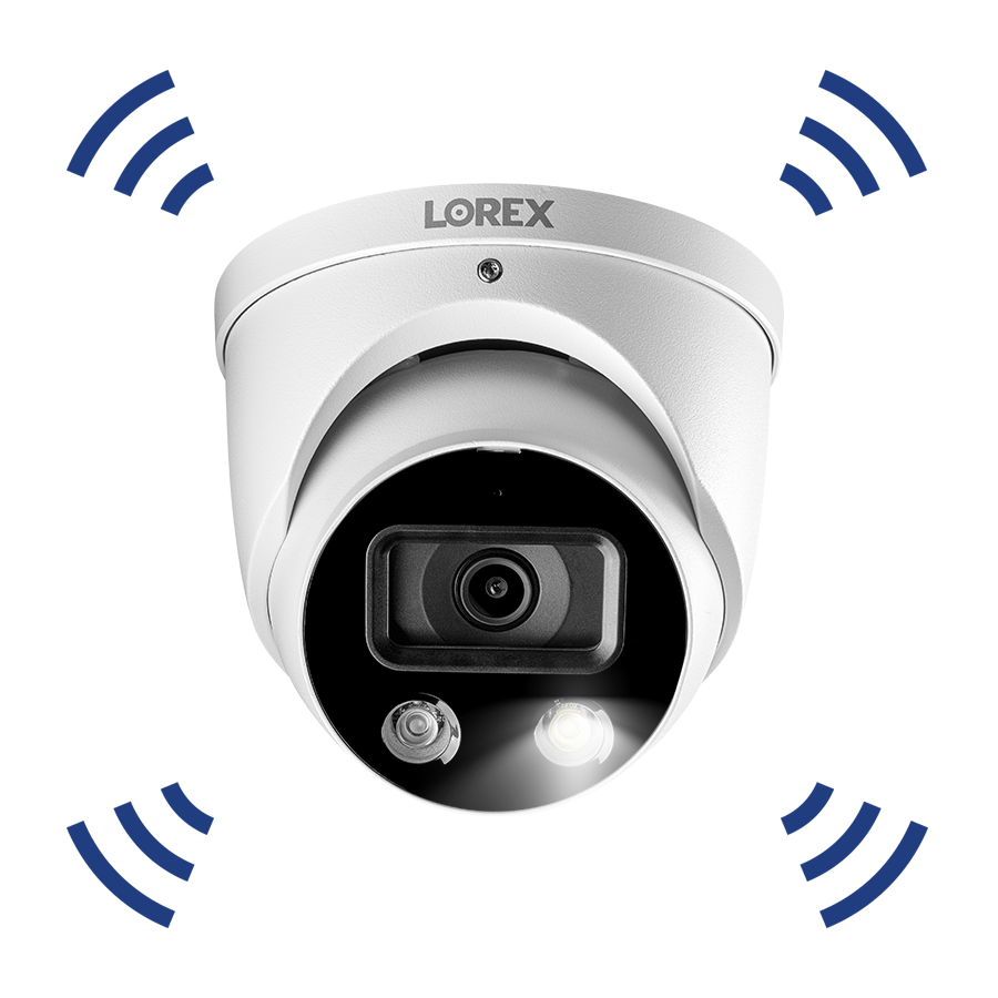 Smart active deterrence security camera 4K IP