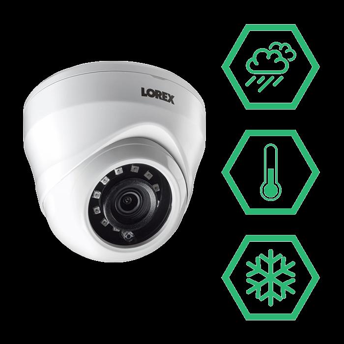 LAE221 weatherproof dome security cameras