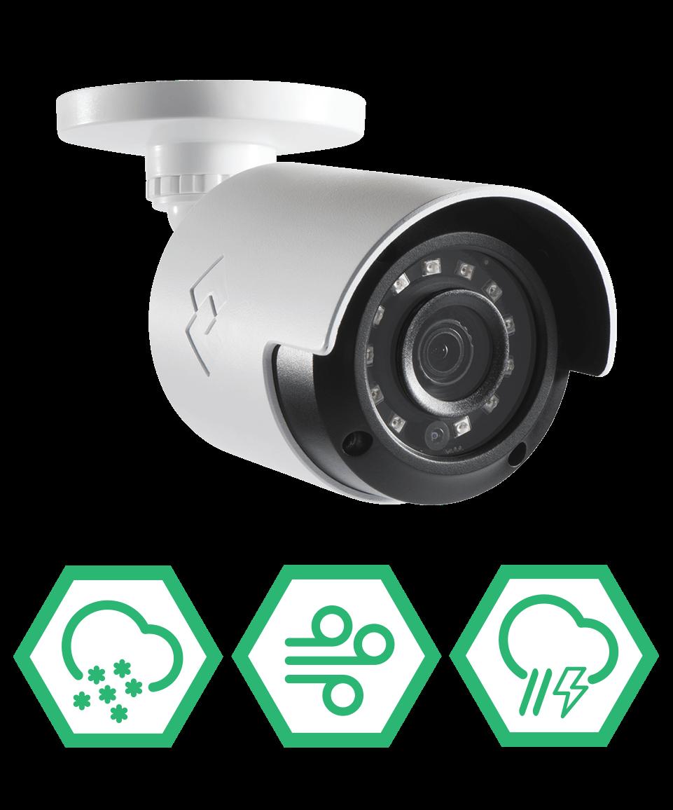 Weatherproof security cameras