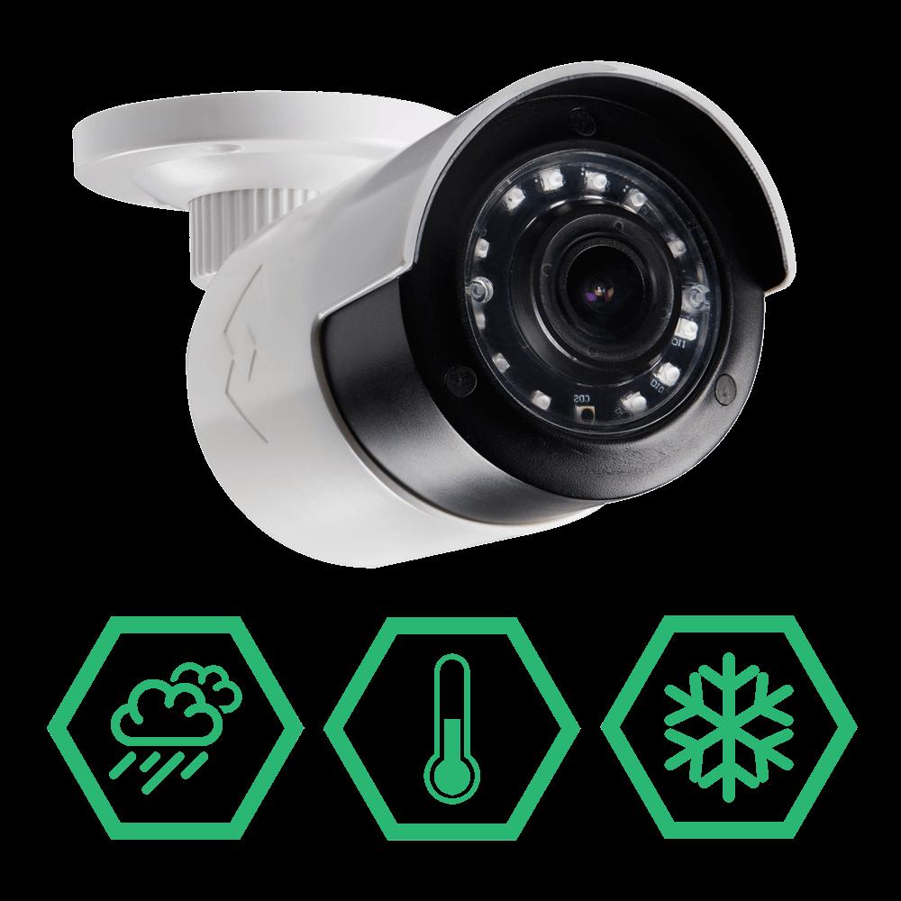 HD 1080p weatherproof sturdy security cameras
