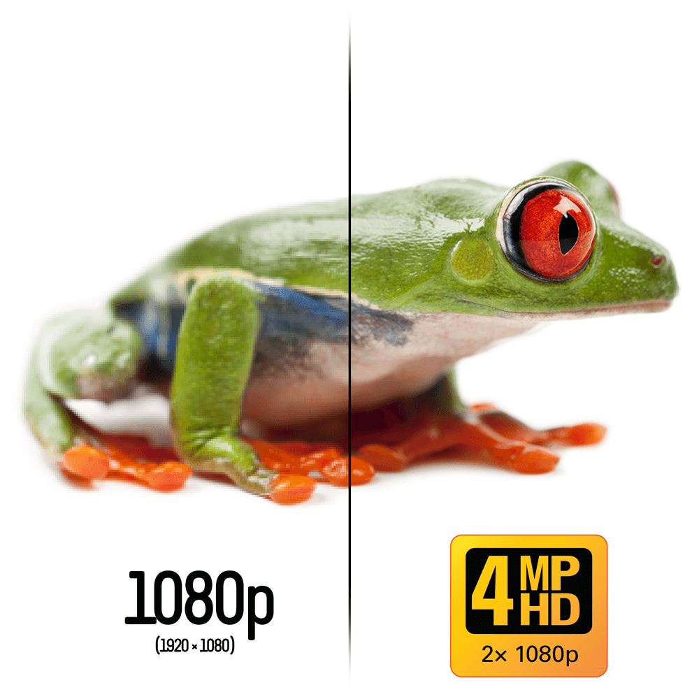 SUPER HD 4MP recording - double the detail of 1080p HD