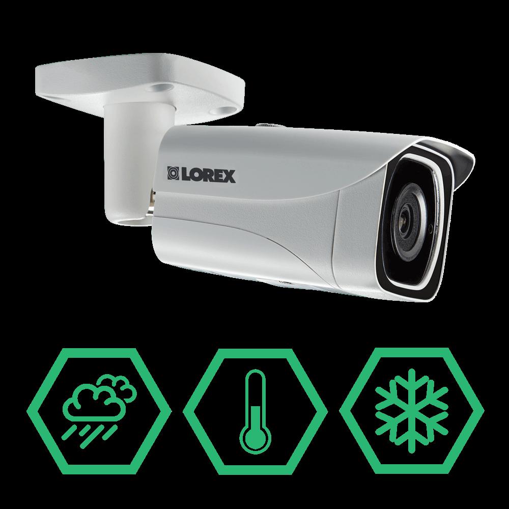 4K weatherproof & vandal resistant security camera