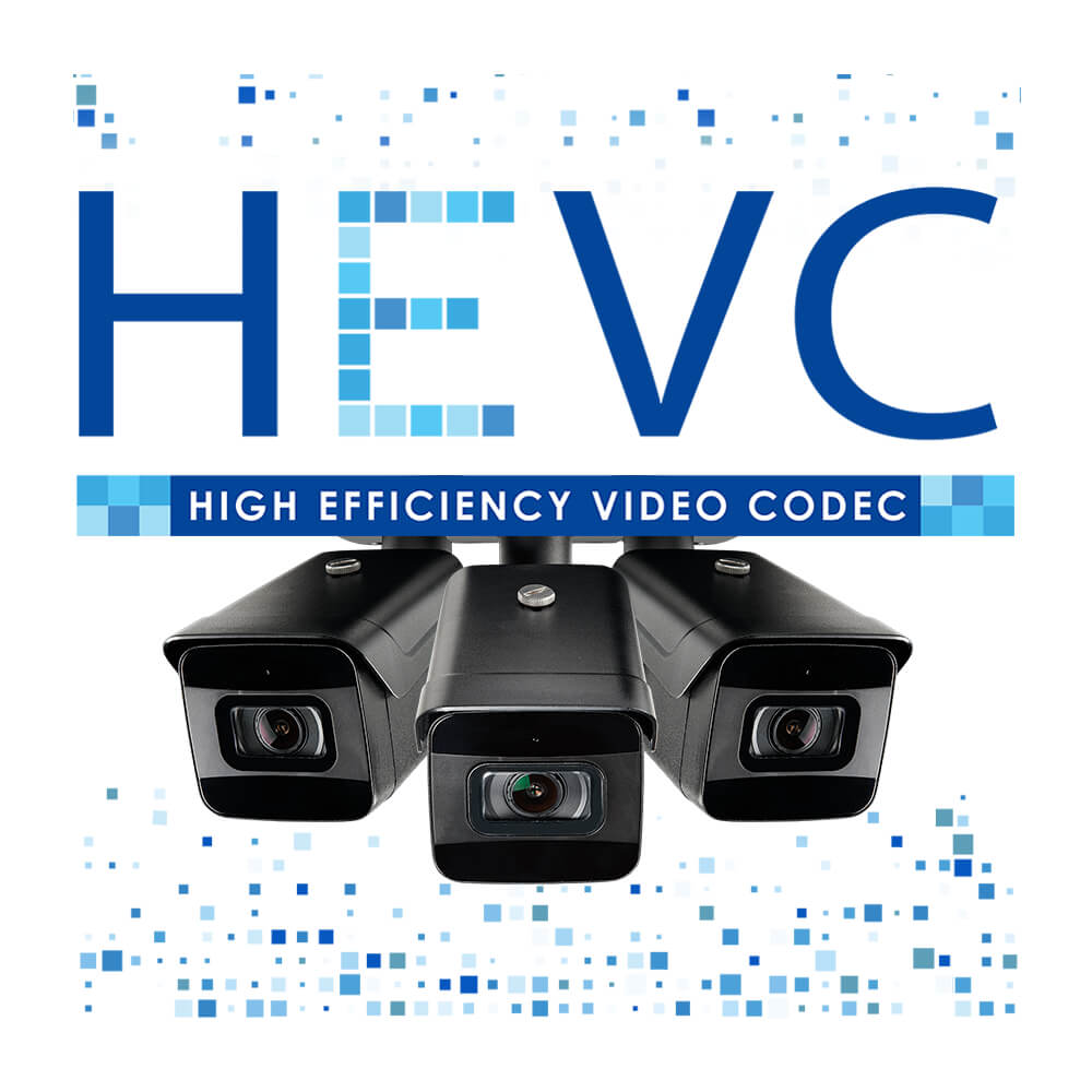 HEVC logo H.265 security camera model LNB9232