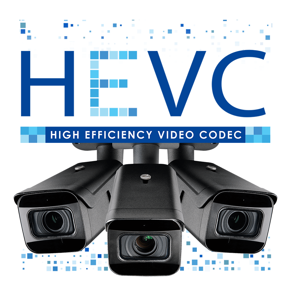 HEVC logo H.265 security camera model LNB9272