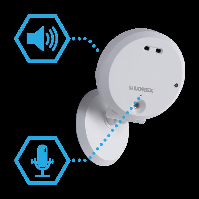 2 way audio home wifi camera