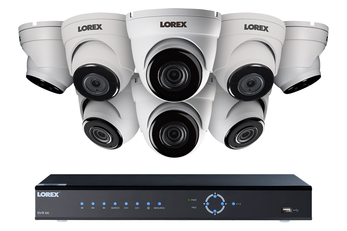 4K Ultra HD IP NVR security camera system with 2K (4MP) IP cameras, 130FT night vision