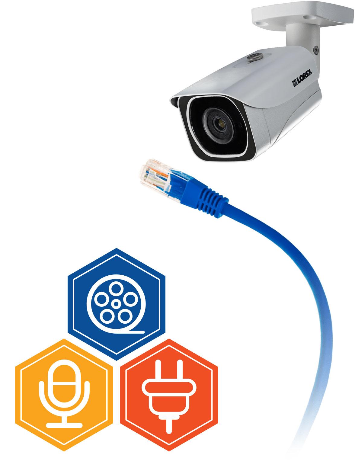 Easy, single-cable installation per camera
