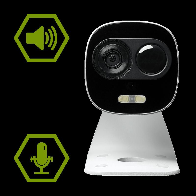 two-way talk audio camera
