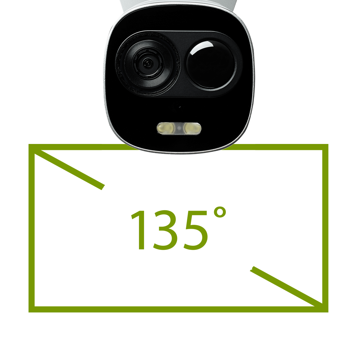 WiFi security camera with wide angle lens