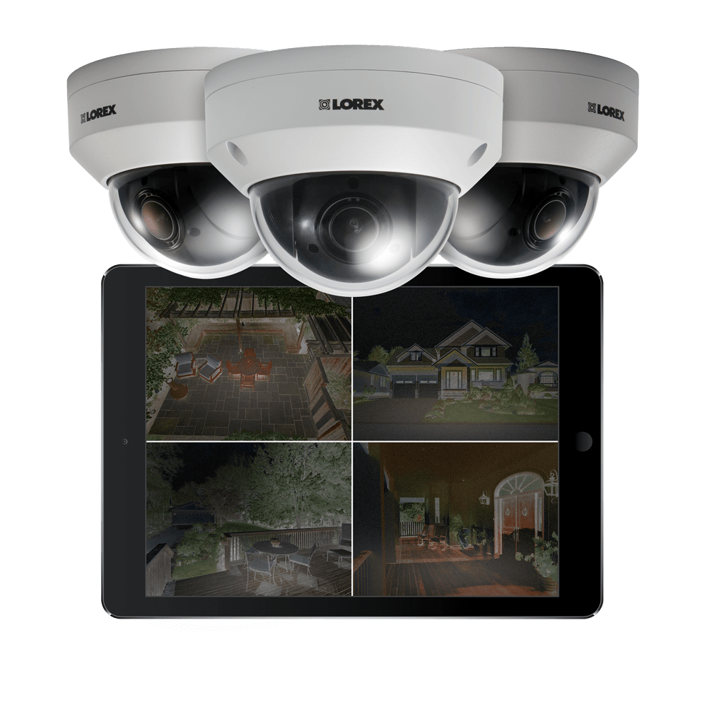 Security camera with color night vision