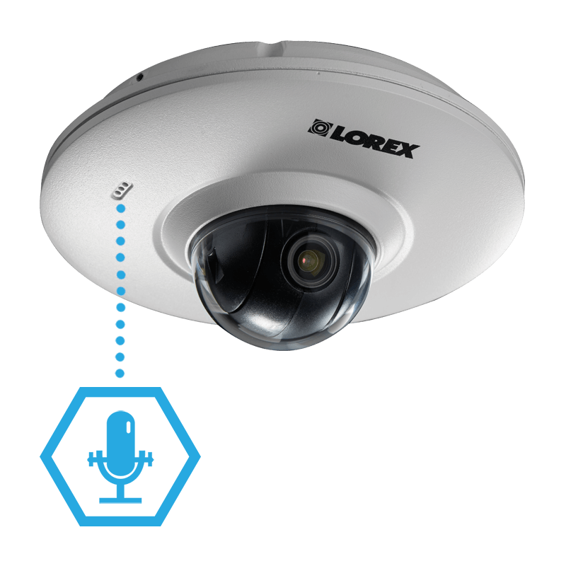 Expand your security coverage with listen-in audio security cameras from Lorex