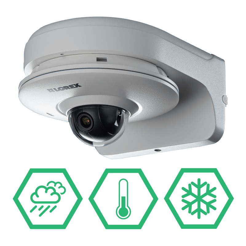 Cold climate resistant and weatherproof IP camera