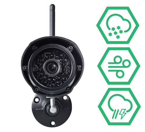 Weather resistant wireless cameras