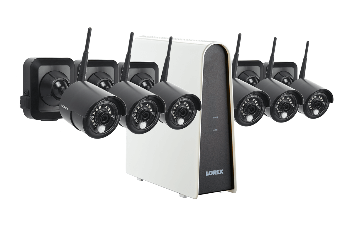 LWF1080BG1-66 HD Wire-Free Security System with six Wire-Free Cameras