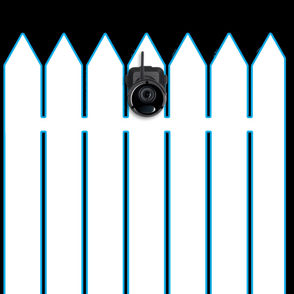 wire-free security camera wireless range