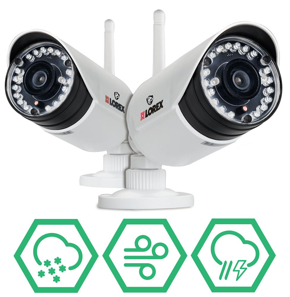 Weatherproof wireless cameras