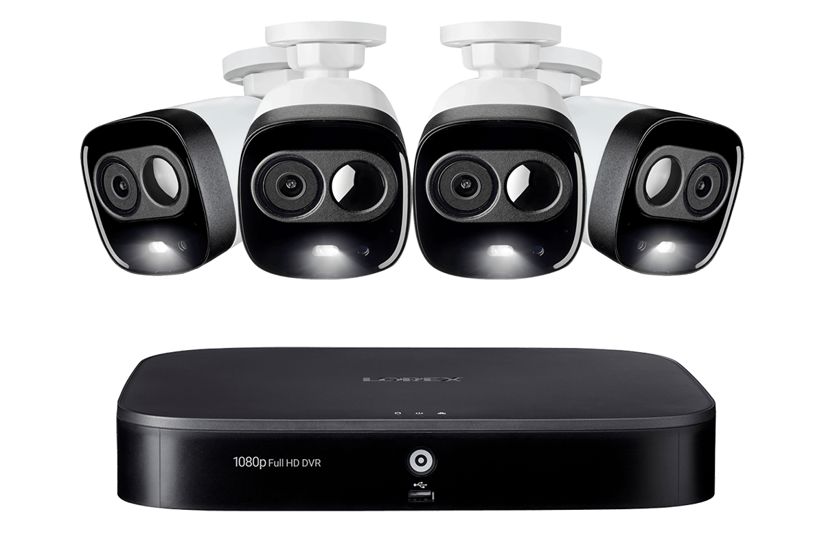 LX1081-44AD 1080p HD 8-Channel Security System with 1080p Active Deterrence Cameras