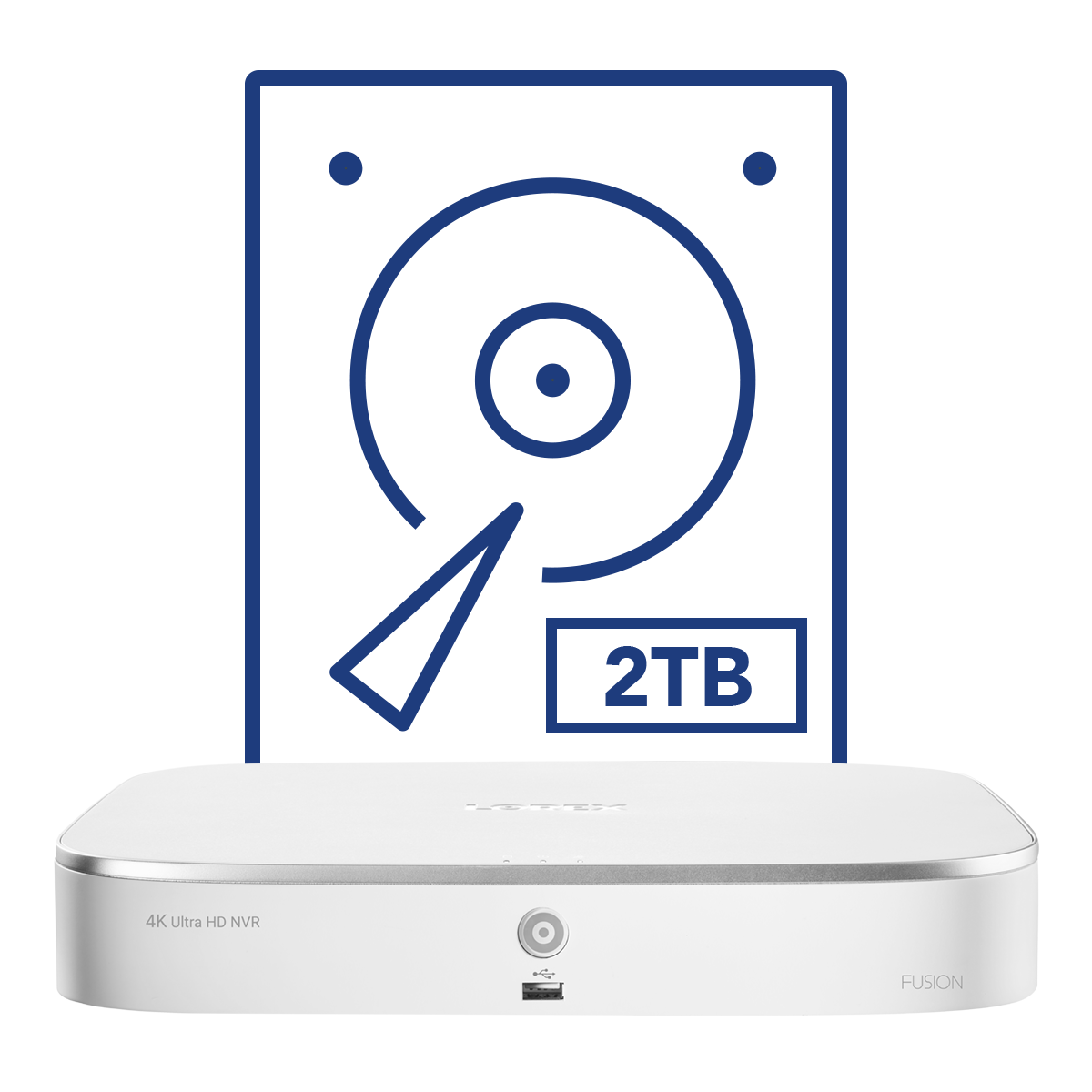 2TB security hard drive