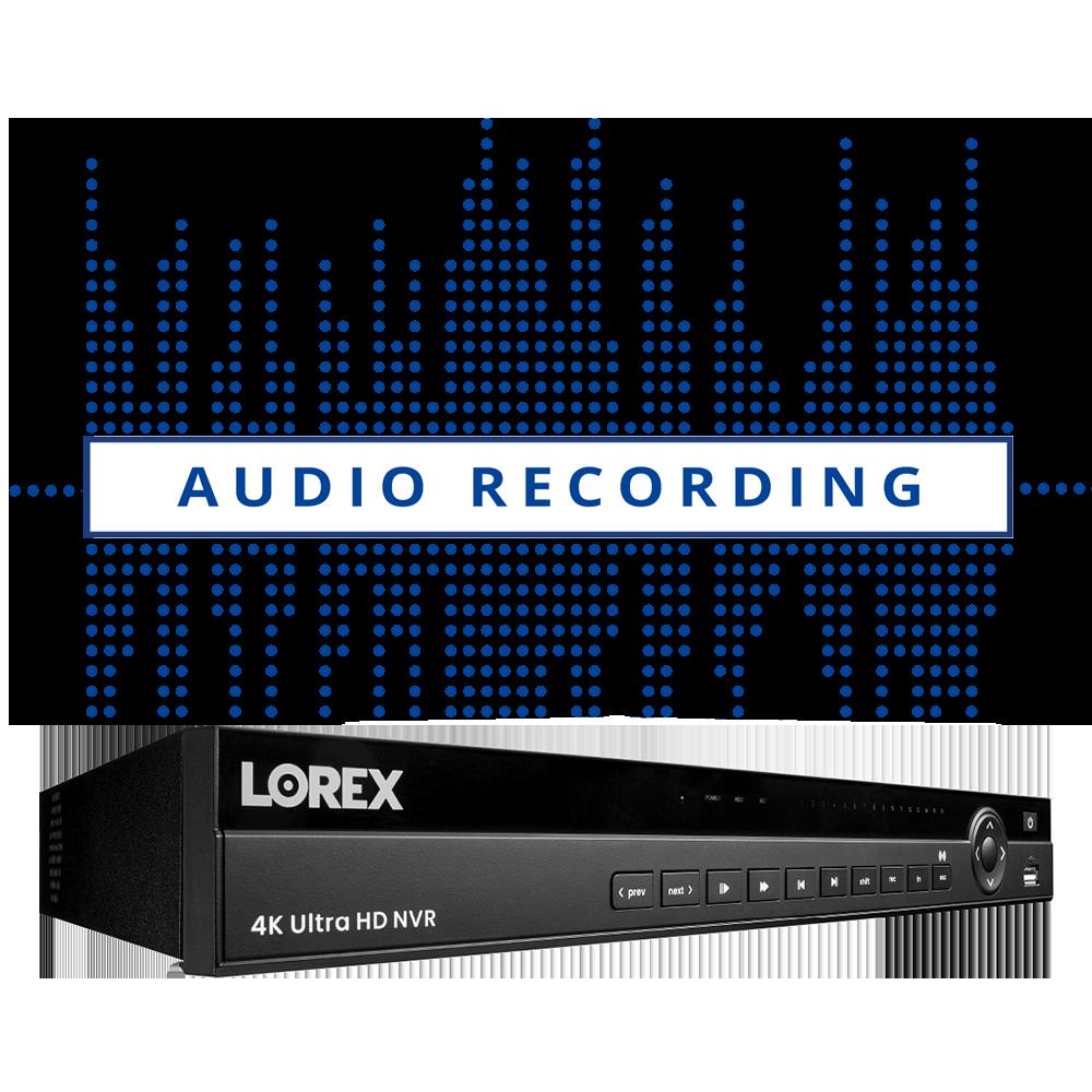 Audio NVR via ethernet
