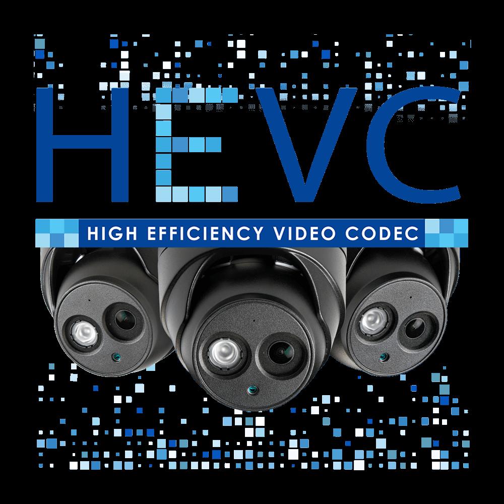 HEVC logo H.265 security camera model LNB8921BW