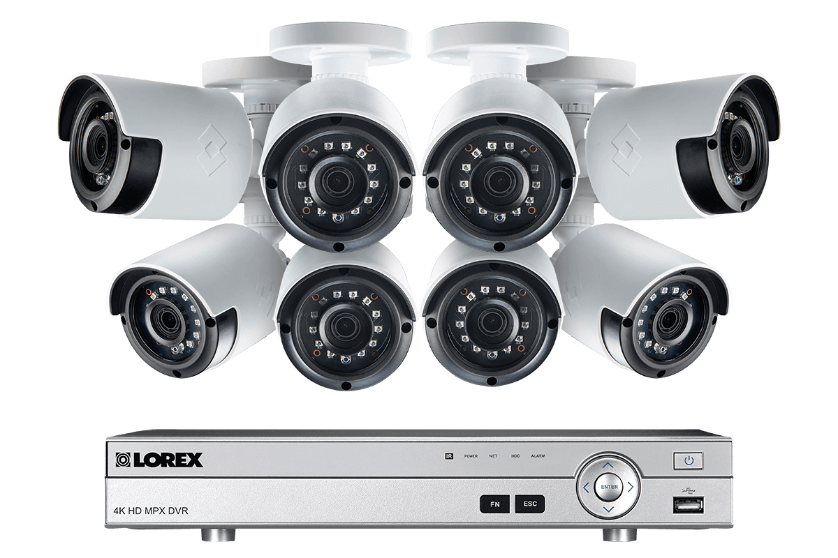 1080p Camera System with 8 Channel DVR and 8 1080p Outdoor Security Cameras, 130ft Night Vision, 1TB Hard Drive
