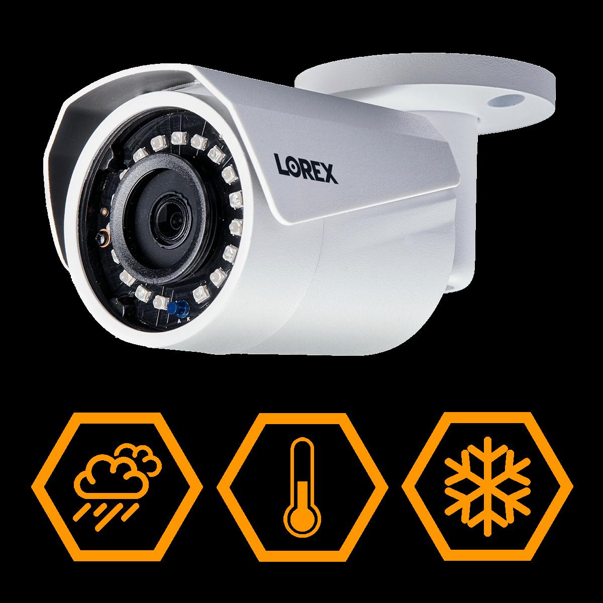 IP66 weatherproof security cameras from Lorex