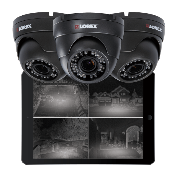 Long distance night vision security cameras