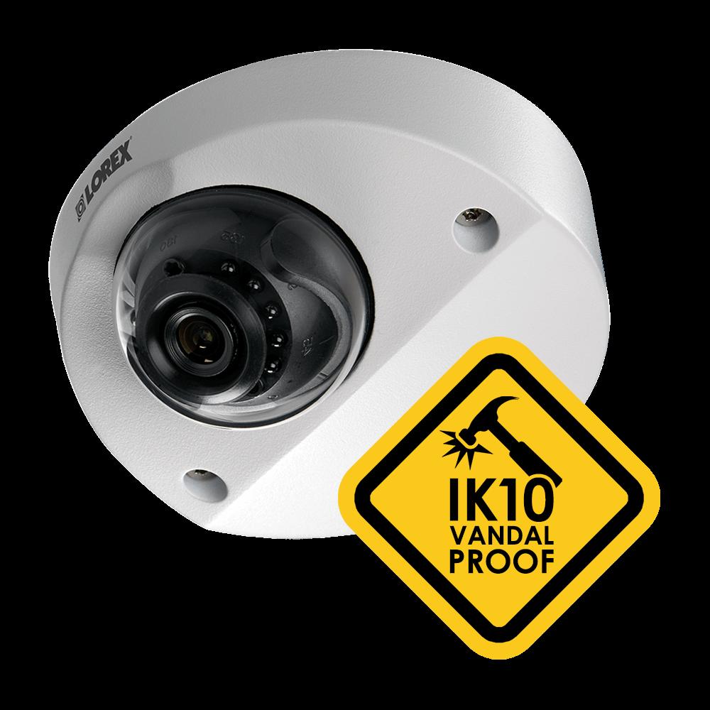 IK10 vandalproof security camera