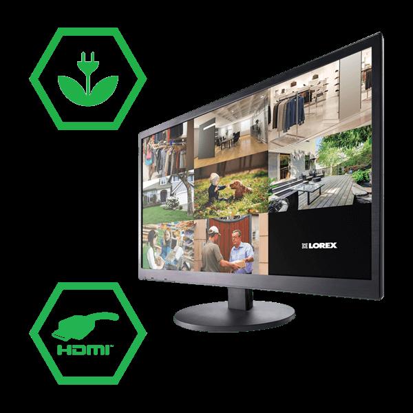 Energy efficient 24 inch LED monitor