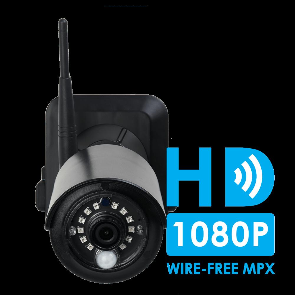 1080p HD wire-free security camera black