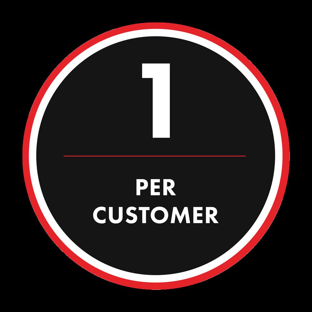 1 per customer