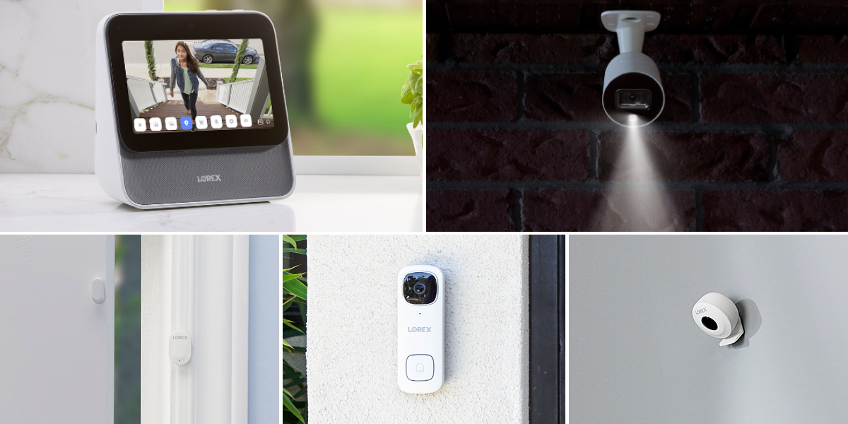 Lorex Smart Home Security Center with 4 Cameras and Motion Sensors