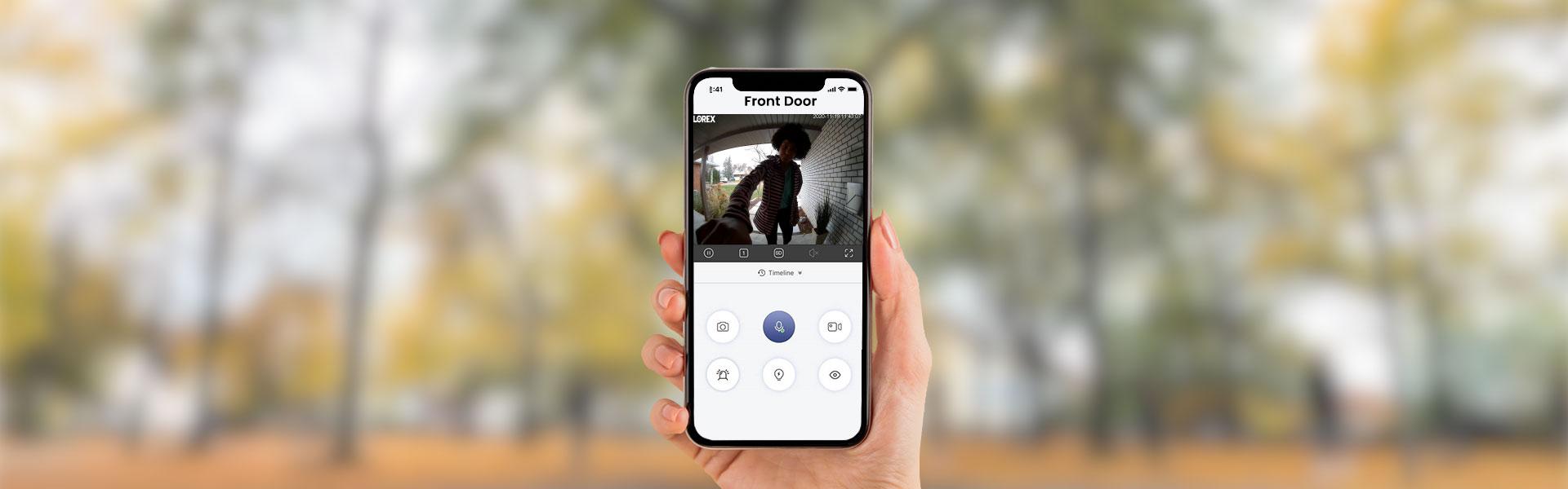 Doorbell cameras work with the Lorex Home App
