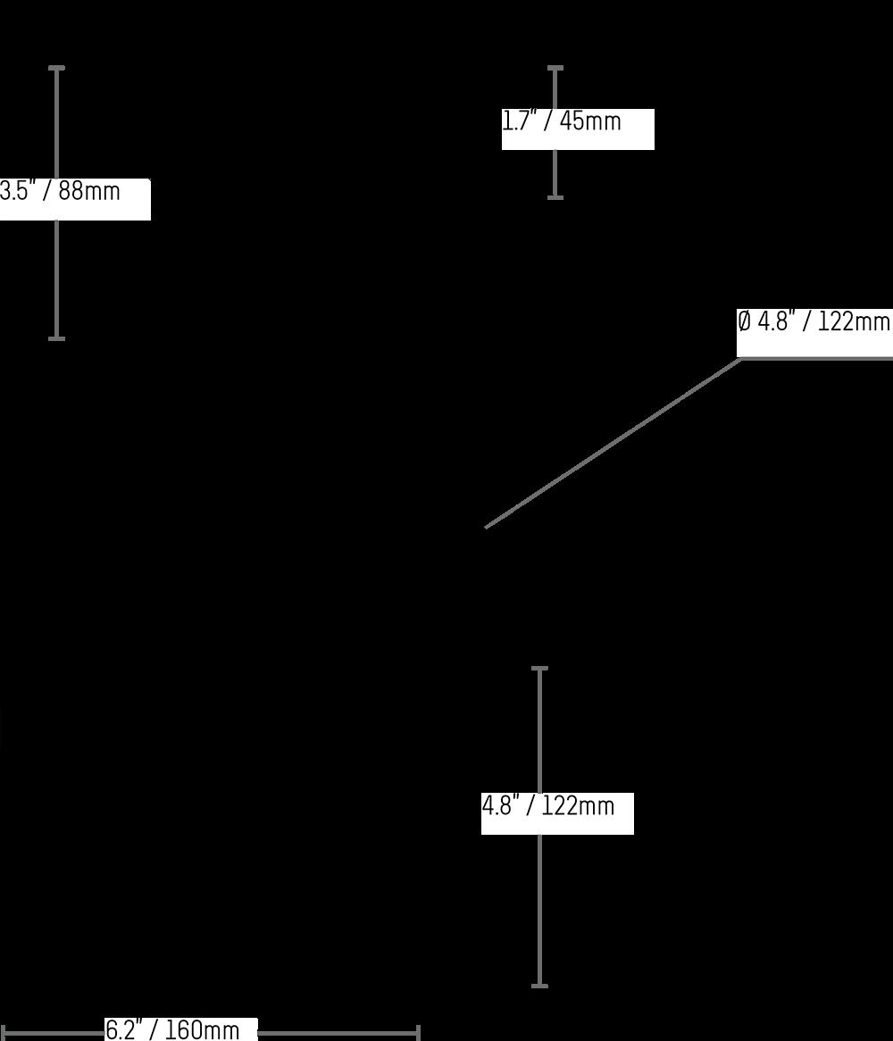 LNZ44P4B Dimensions