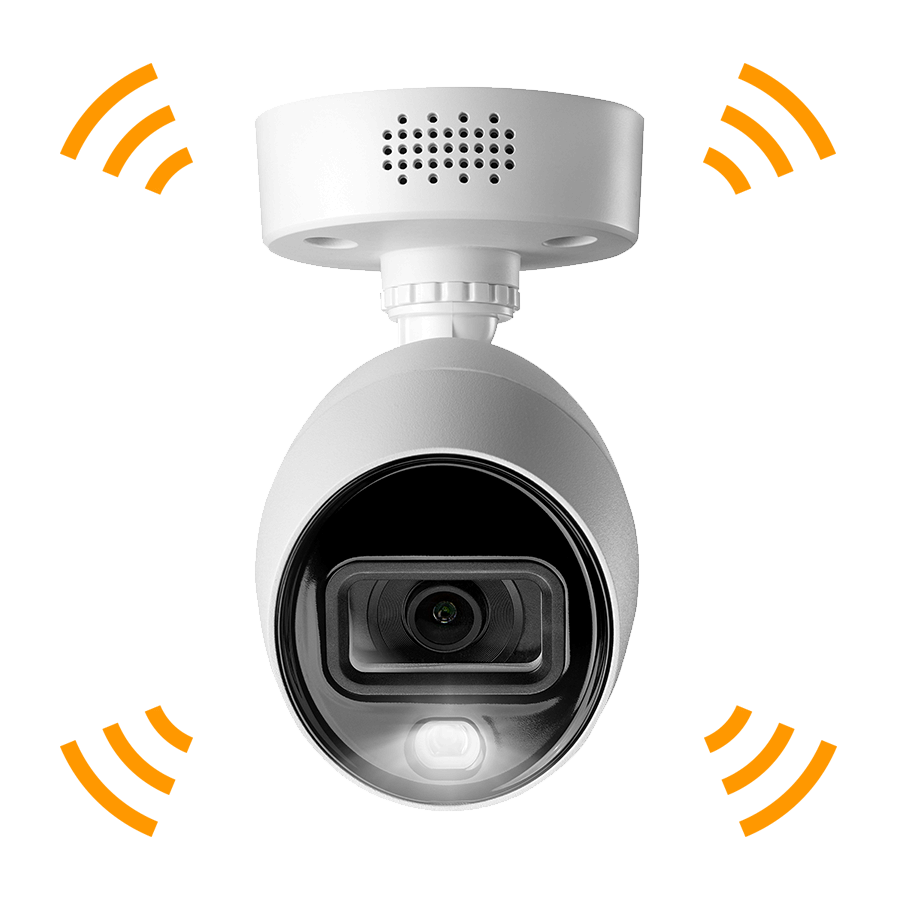active deterrence security camera 4K Ultra HD