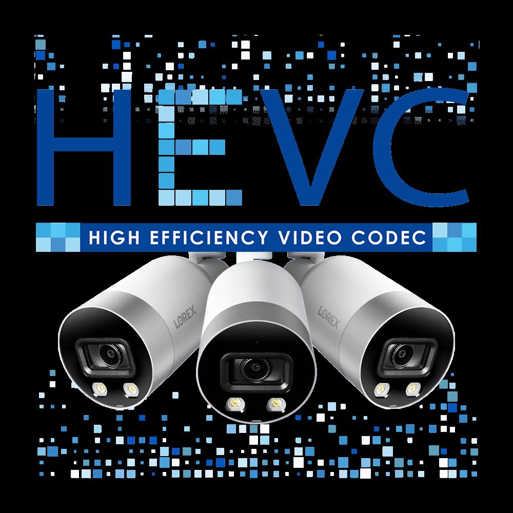 HEVC 4K IP security camera