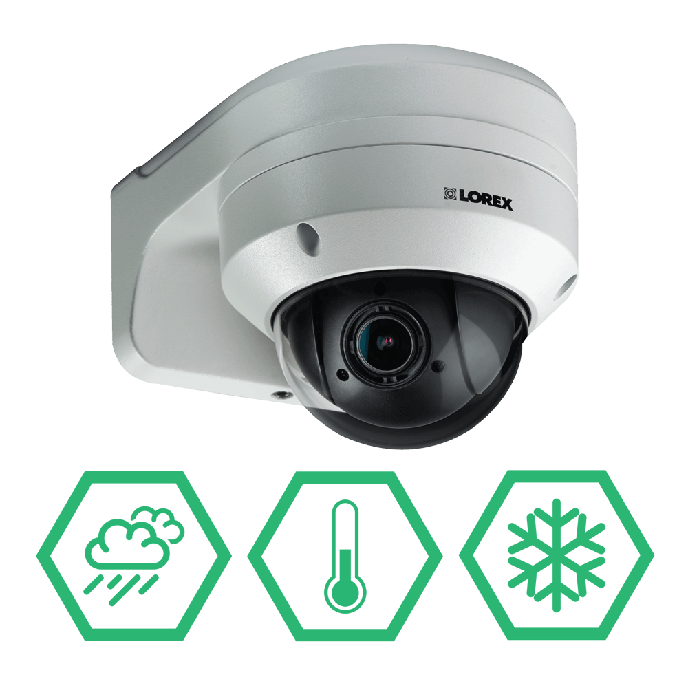 Weatherproof PTZ security camera