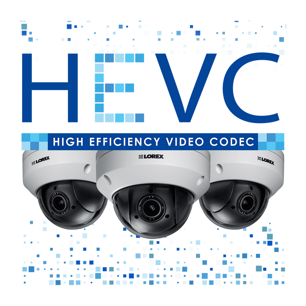 HEVC logo H.265 security camera