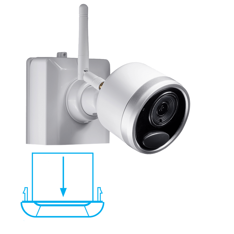 1080p Wireless Camera System With 2 Battery Operated Wire