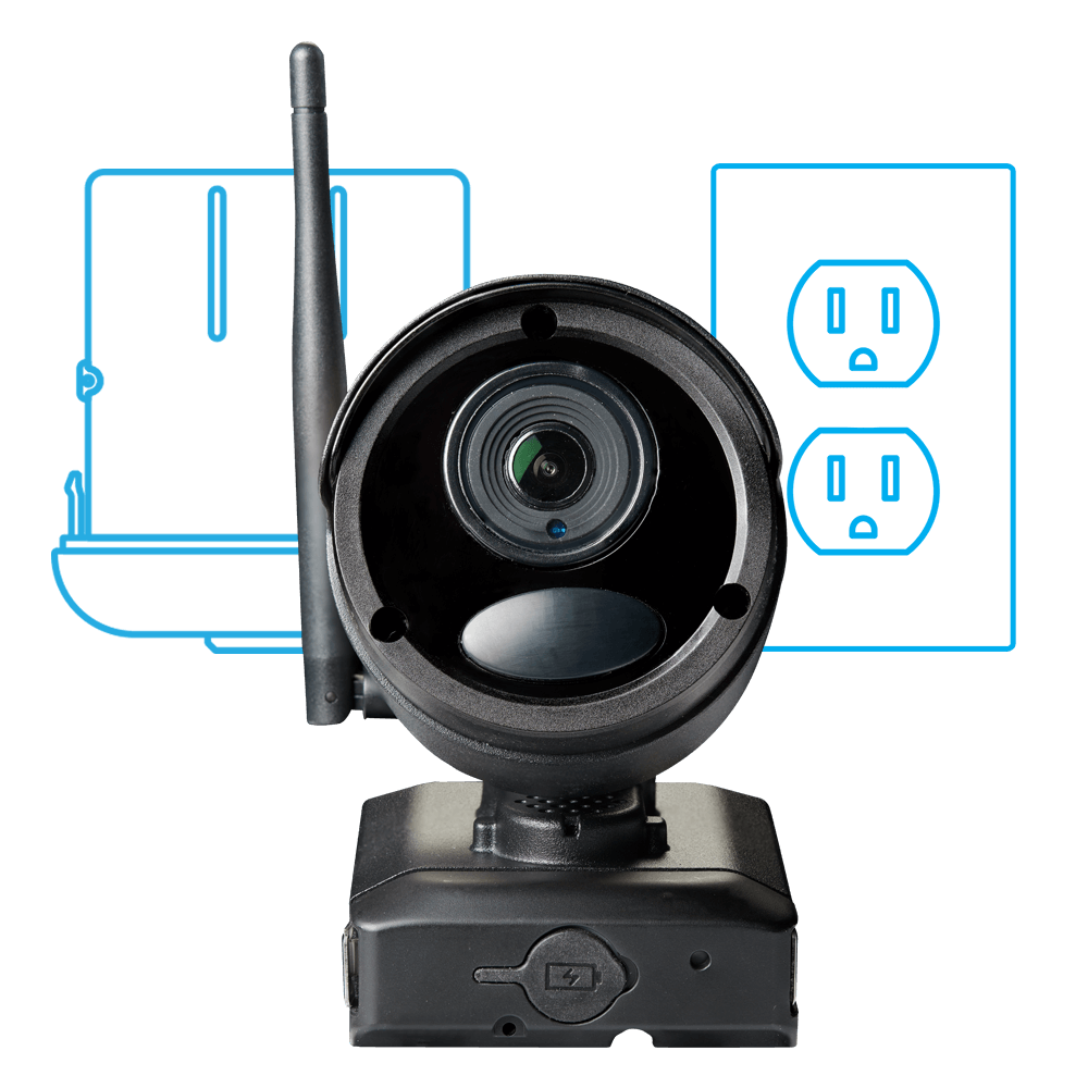 hybrid wireless wired security camera